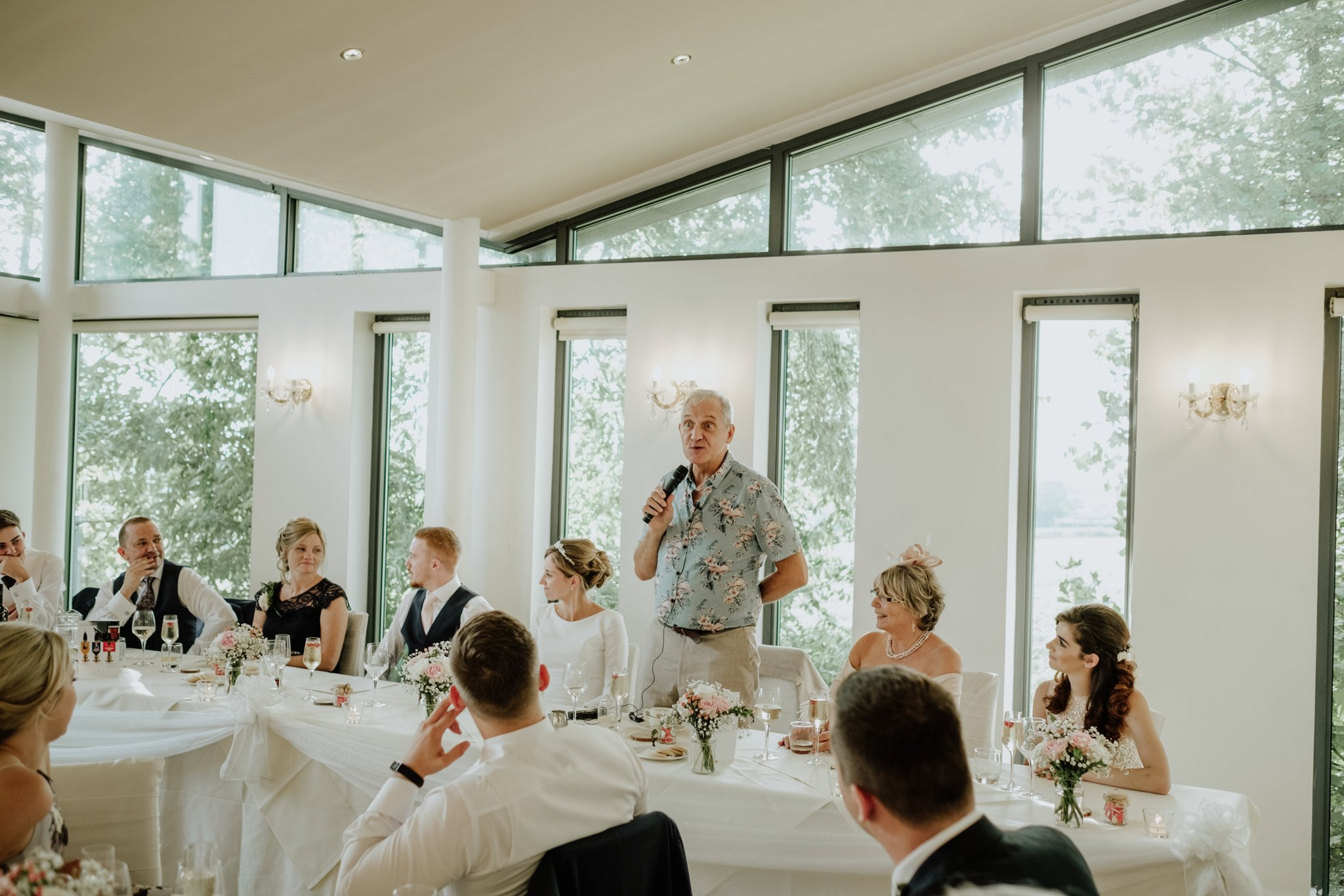 father of the bride during speeches